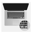 Notebook with black keyboard vector image