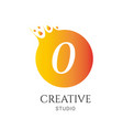 o letter logo design o icon colorful and modern vector image