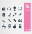 Office icons 2 vector image vector image