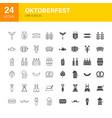 oktoberfest line web glyph icons vector image