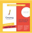 paint brush company brochure template busienss vector image