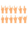 people hand signals different gestures vector image vector image