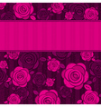 pink valentine background with roses vector image vector image