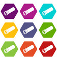 plastic pipe icons set 9 vector image vector image
