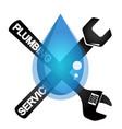 plumbing repair tool symbol vector image vector image