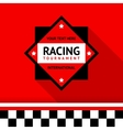 Racing badge 02 vector image vector image