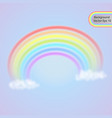 rainbow in the clouds summer symbol vector image vector image