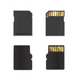 realistic mock-up of memory cards vector image