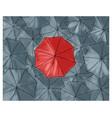 red umbrella in the grey umbrellas - pattern vector image vector image