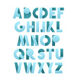 Retro font in blue Blue alphabet Realistic letters vector image vector image