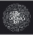 saint patrick s day traditional symbols collection vector image vector image