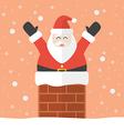 Santa claus in chimney vector image vector image