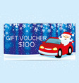 santa claus in the car vector image