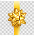 satin gold bow knot for celebration holiday vector image