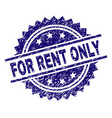 scratched textured for rent only stamp seal vector image vector image