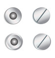 screw heads on white stock vector image