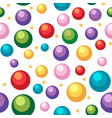 seamless background template with balls and stars vector image