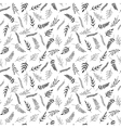 seamless pattern black and white herb vector image vector image