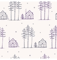 seamless pattern pine house vector image vector image
