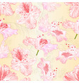 seamless texture blossoms rhododendrons vector image vector image