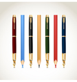 Set pens and pencils vector | Price: 1 Credit (USD $1)