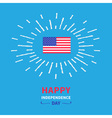 shining flag independence day vector image vector image