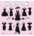 Silhouette of little black party dressesFashion vector image vector image