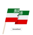 Somaliland Ribbon Waving Flag Isolated on White vector image vector image