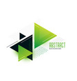 stylish green theme triangles memphis background vector image vector image