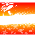 Summer holiday abstract background vector image