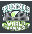 Tennis World Championship vector image vector image