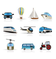 transportation and travel icons vector image vector image