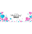 valentines day banner sale promo with paper cut vector image vector image