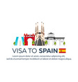 visa to spain document for travel flat vector image vector image