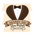 wedding logo design vector image vector image