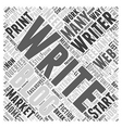 Writing as a freelancer Word Cloud Concept vector image vector image