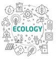ecology linear vector image