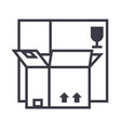 boxes line icon sign on vector image