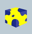 3d cube for your design eps vector image