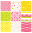 9 Seamless Baby Patterns Baby Texture Wallpaper vector image vector image