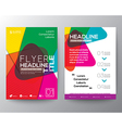Abstract colorful Brochure Flyer design Layout vector image vector image