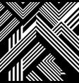 abstract pattern with black white striped lines vector image vector image