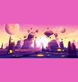 alien planet landscape for space game background