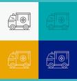 ambulance truck medical help van icon over vector image vector image