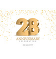 anniversary 28 gold 3d numbers
