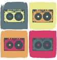 audio cassette pop art concept vector image vector image