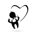 baby with heart icon vector image