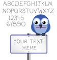bird sign alphabet vector image vector image