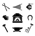 Blacksmith icons vector image vector image