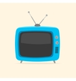 blue retro tv Flat Design vector image